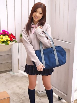 Azusa Togashi is hot sweetie with pretty face and teen body